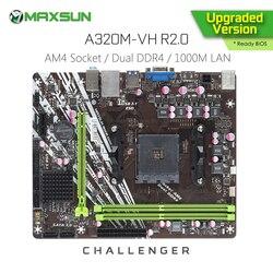 Original MAXSUN Challenger A320M - VH R2.0 AMD Motherboard AM4 mATX Dual Channel DDR4 1000M LAN SATA3.0 USB3.1 VGA HDMI
