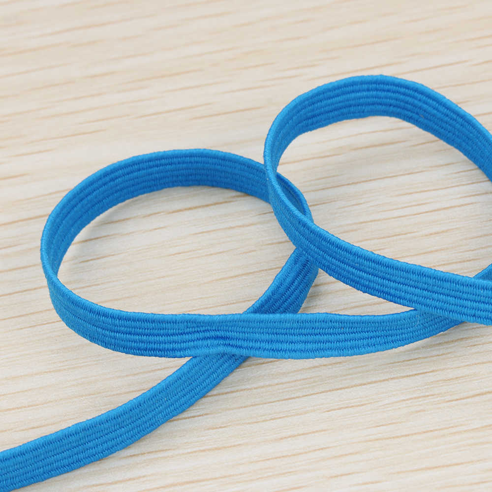 33Yards 6mm Elastic Rope Elastic Cord Waistband Ribbon Headband Ear Hanging DIY