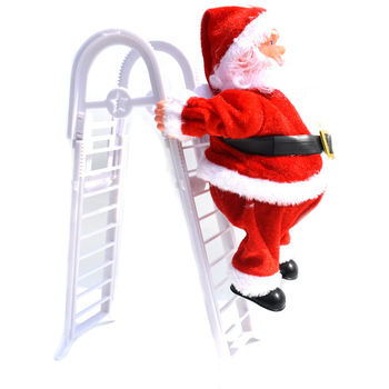 4 pcs Music Santa Claus Electric Climb Ladder Hanging Decoration Christmas Tree Ornaments New Year Kids Gifts Christmas Figurine