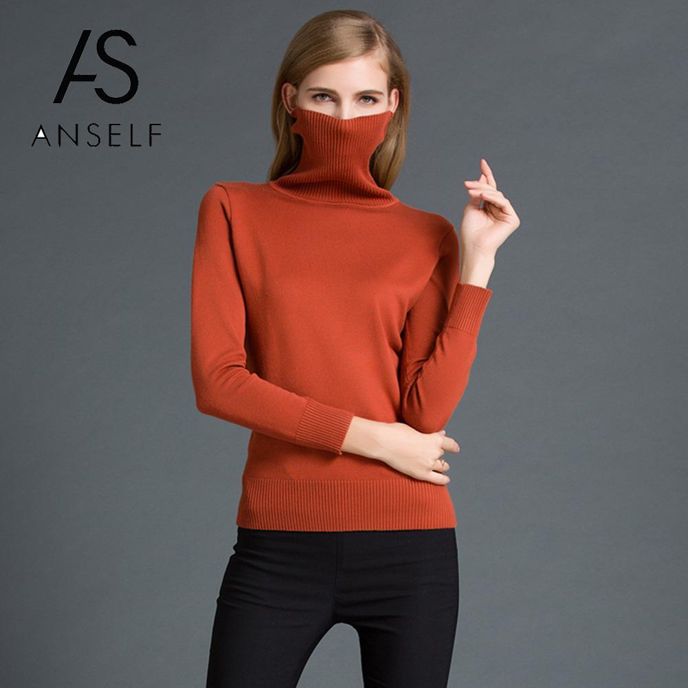 Chaqueta de cuello de alta para mujer Med Suéter Holgado Cadera Largo Tops Jersey Cuello Redondo Caliente