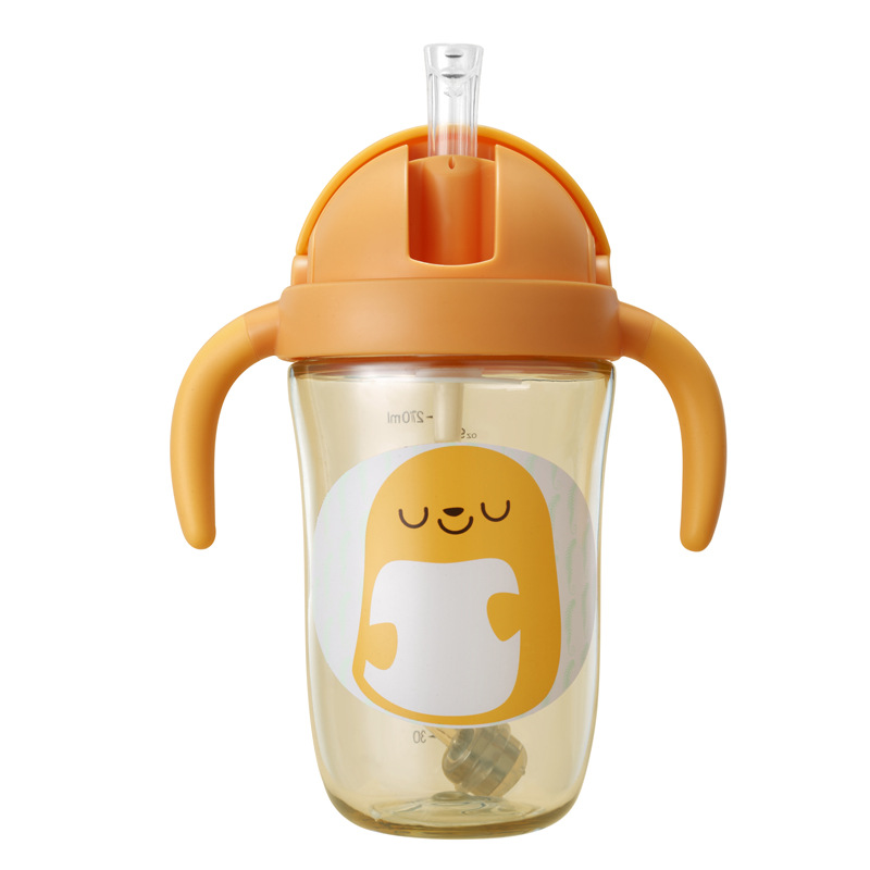 Wei Lun Seoul Children Cup With Straw Sippy Cup Baby Glass PPSU Infant Sippy Cup Kindergarten Drink Glass