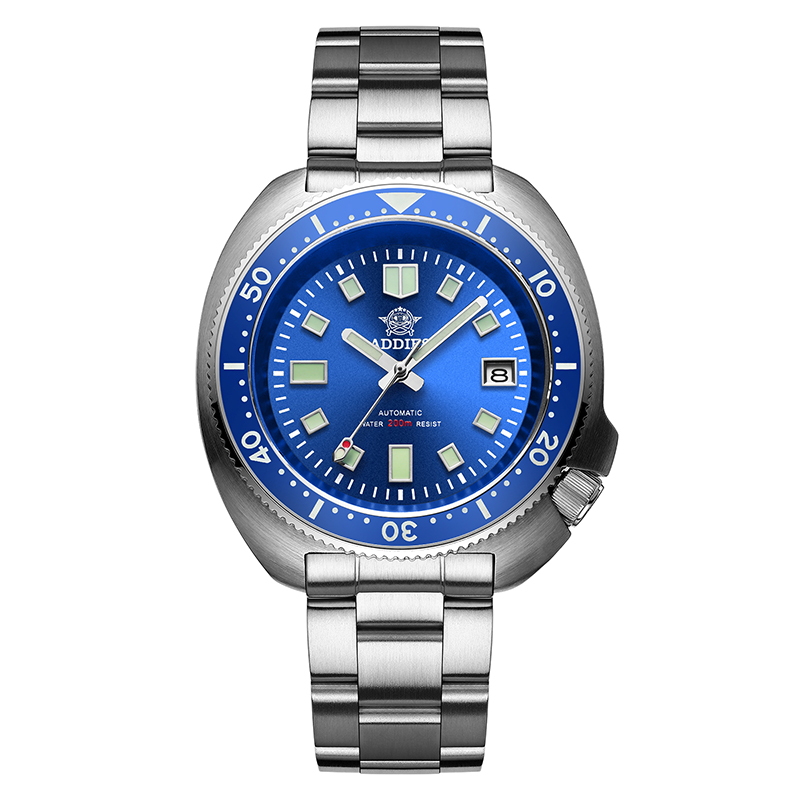 1970 Abalone Dive Watch 200m Sapphire crystal calendar NH35 Automatic Mechanical Steel diving Men's watch 8