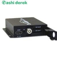 Vehicle Mobile DVR CVBS/HDMI Video Output 3 4 5MP 720P 1080P AHD Mini 2 channel Car DVR with Dual SD Card Slot 2Cameras Optional