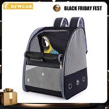 RFWCAK sac à dos pour perroquet et chien, Cage de Transport, voyage en plein air, respirant, sac de Transport canari doiseaux, fournitures