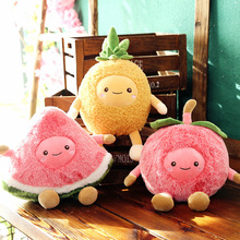 Cute pineapple apple watermelon pillow creative fruit series plush toy girl gift doll