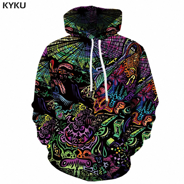 3d Hoodies Psychedelic Sweatshirts men Element Hooded Casual Abstract Hoody Anime Graffiti Hoodie Print Funny 3d Printed 1