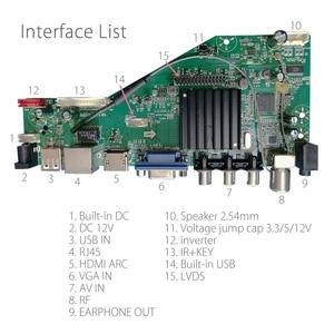 Image 2 - Android 8.0 1G + 4G 4 rdzenie MSD358V5.0 inteligentna inteligentna bezprzewodowa sieć WI FI TV panel sterowników LCD uniwersalny kontroler 3.3/5/12V