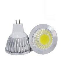 Super brilhante gu10 lâmpada led 9w 12 15 18wled lâmpada luz mr16 cob regulável mr 16 led spotlight quente/frio branco frete grátis