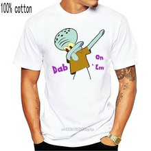 Camiseta divertida de Squidward Tentacles Dab On Em para hombre, camisa de sublimación a todo Color, Hip Hop, venta al por mayor
