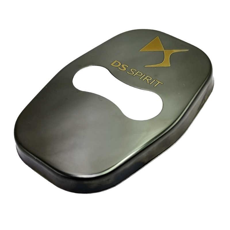 FLYJ 4PCS รถประตูล็อคป้องกันหัวเข็มขัดสลักอุปกรณ์เสริมสำหรับ DS SPIRIT 3 5 6 7 5LS 4S WILD RUBIS