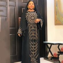 Islamic Clothing Dress Abaya Turkey Caftan-Robe-Diamonds Muslim-Hijab Dubai African Party-Gown