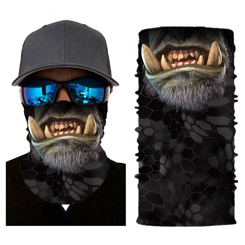 Hot Sale Ride Cycling Motorcycle Head Scarf Neck Warmer Skull Face Mask Ski Headband Mask Halloween Face Shield Bandana Outdoor