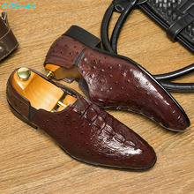 QYFCIOUFU Spring Autumn Stylish Mens Penny Loafers Genuine Leather Hand Slip On Men's Dress Shoes Wedding Casual Business Shoes northmarch spring autumn new mens business dress shoes fashion slip on tassel leather wedding shoes men handmade work shoes