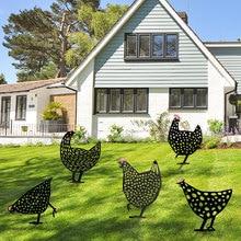 Easter Gardening Ornaments Chicken Yard Art Outdoor Garden Backyard Lawn Stakes Acrylic Hen Yard Decoration New Gift organizador