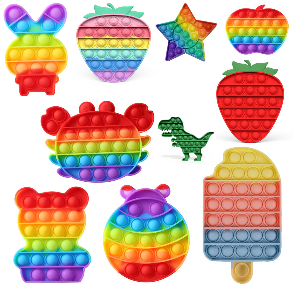 Пуш-ап поп-пузырь Анти-Стресс Игрушка Дети пуш-ап пузырь мороженое настольная игра подарки детям весело Давление Снижение Игрушка