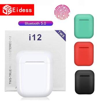 i12 tws Touch Bluetooth Earphone Wireless Earbuds Hands free Business Earpieces Sport Headset Bluetooth music Headphones Earbuds
