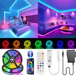 Bluetooth LED Strip Light SMD 5050 RGB led ribbon Flexible Waterproof LED Light 5M 10M Tape Diode DC 12V Power + Controller
