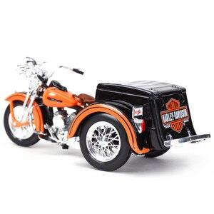 Image 2 - Maisto 1:18 1947 Servi Auto Moto sidecar Pressofuso In Lega Modello di Moto Giocattolo