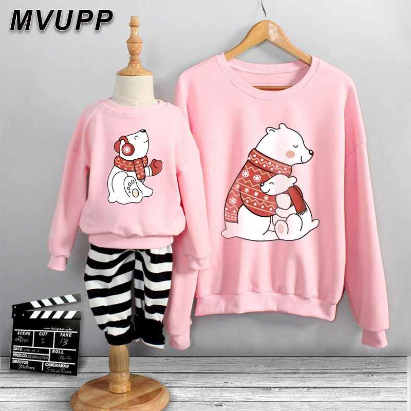 Family Matching Clothes Autumn Winter Family Clothes Mom Daughter Baby Cartoon Sweatshirt Baby Girl Clothes Mom Baby Family Suit Aliexpress