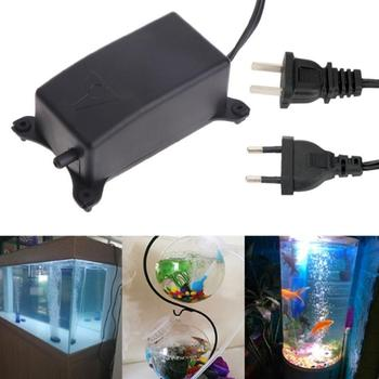 цена на Aquarium Air Pump Fish Tank Ultra Silent Aquarium Air Pump Fish Tank Increasing Oxygen Pump Soft Pump Hose Air Stone 2W 220-240V