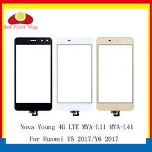 10 шт./лот для huawei Nova Young 4G LTE/Y6 2017/Y5 2017 MYA L11 сенсорная панель дигитайзер Переднее стекло Y5III сенсорный экран