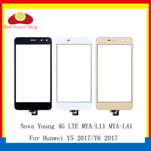 10Pcs/lot For Huawei Nova Young 4G LTE / Y6 2017 / Y5 2017 MYA L11 Touch Panel Sensor Digitizer Front Glass Y5III Touch Screen