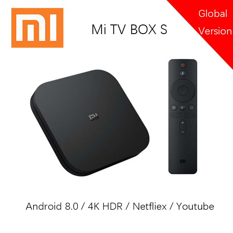 <font><b>Xiaomi</b></font> <font><b>Mi</b></font> <font><b>Box</b></font> <font><b>S</b></font> <font><b>Global</b></font> <font><b>Version</b></font> with 4K HDR Android TV Google Assistant Android 8.1 2G 8G WIFI Netflix Smart Set top <font><b>Box</b></font> image