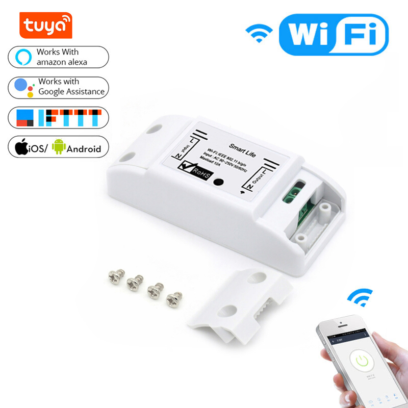 Tuya Smart Switch Universal Breaker WiFI Diy Timer Switch Smart Life APP Wireless Remote Controlled Works with Alexa Google Home