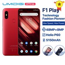 UMIDIGI F1 zagraj w androida 9 0 6GB RAM 64GB ROM 48MP + 8MP + 16MP kamery 5150mAh 6 3 #8222 FHD + Helio P60 globalna wersja Smartphone Dual 4G tanie tanio Nie odpinany CN (pochodzenie) Rozpoznawania linii papilarnych Rozpoznawania twarzy Inne Szybkie ładowanie 3 0 Smartfony