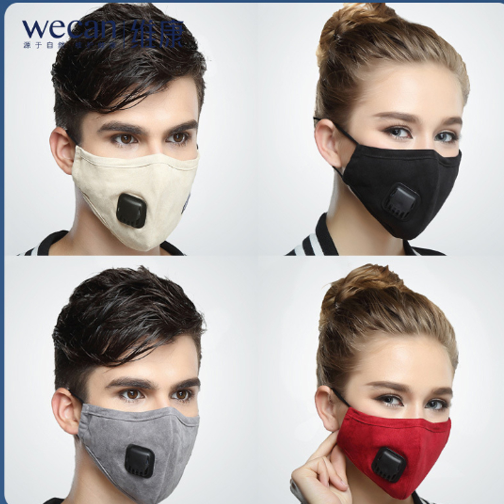 Cotton Fur Mouth Face Mask Unisex Women Men Black Red Beige Mouth Face Mask Respirator Anti Haze Anti Dust Mask Filter Valve