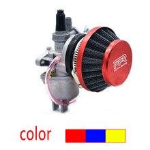 Карбюратор Carb Carby + стальной 44 мм воздушный фильтр красный синий + стек для 47cc 49cc мини-мотоцикла внедорожника ATV квадроцикла картинга Minimoto