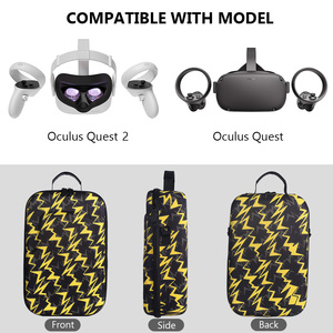 Image 4 - New Hot EVA Protect Waterproof Case for Oculus Quest/Quest 2 VR Glasses Gaming Headset and Accessories Travel Carrying Case Bag