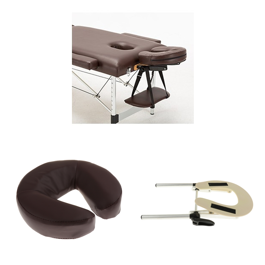 Standard Adjustable Massage Table Face Cradle With Face Down Pillow Cushion Fit For Spa Massage