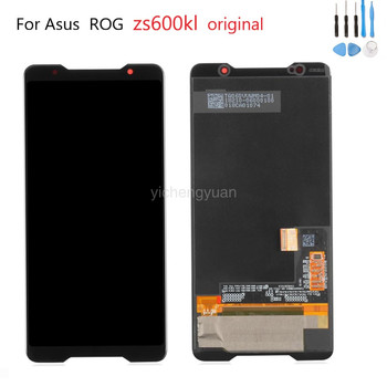 6.0''Original Amoled Screen for Asus ROG Phone Zs600kl Z01QD LCD Display Touch Screen Digitizer Assembly Replacement With frame