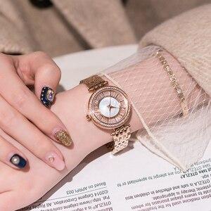 Image 1 - Relojes dama reloj de lujo de acero inoxidable, reloj de pulsera de cuarzo para mujer