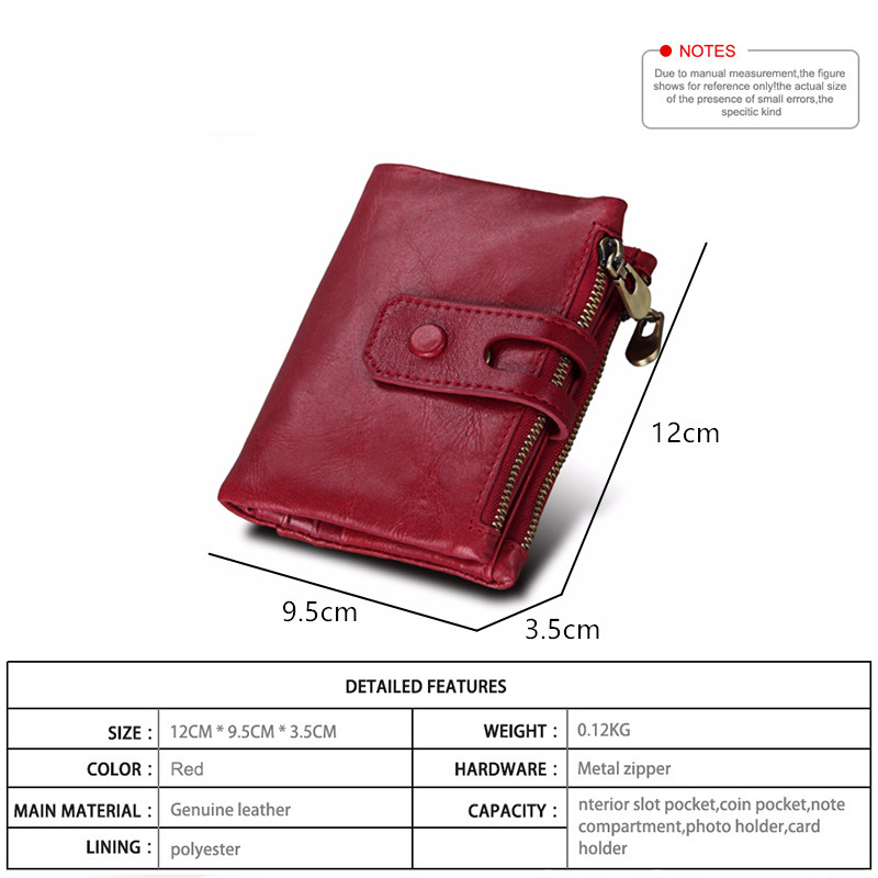 Rfid-100-Genuine-Leather-Women-Wallets-Female-Hasp-Double-Zipper-Luxury-Coin-Purse-ID-Card-Holder