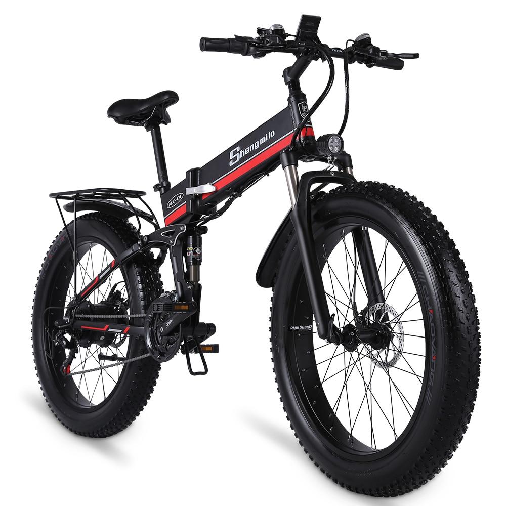 Shengmilo Электрический велосипед 1000W новый супер уровень снеговой велосипед электрический велосипед складной электровелосипед 48V12Ah Электриче...