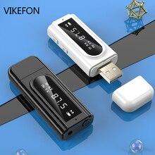 بلوتوث 5.0 استقبال الارسال LED سيارة FM المغير قارئ بطاقات 3.5 مللي متر AUX جاك RCA USB محول الصوت اللاسلكي يدوي Mic