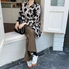 Женская свободная рубашка в корейском ретро стиле с длинными