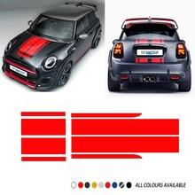 Car Hood Bonnet Stripes Sticker Trunk Tail Gate Decal For MINI John Cooper Works F56 F55 F57 R56 R57 R58 R59 JCW Car Accessories