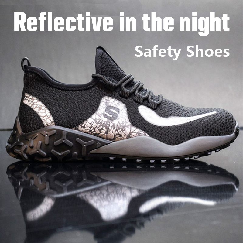 Steel Toe Work Safety Shoes Men With Steel Toe Cap Indestructible Ryder Shoe Lightweight Reflective Working Shoes For Men