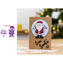 Merry Christmas Kind and Gentle Santa Claus Decorations Artistic Words Love X Metal Cutting Dies Scrapbooking Album Paper DIY Cards Crafts Embossing New 2019