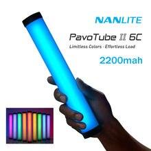 Nanlite PavoTube II 6C photographie éclairage bâton Tube Portable poche LED RGB remplir lumière Photos vidéo lumière douce Nanguang