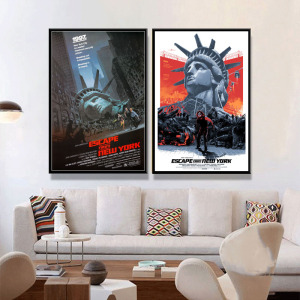 P819 Escape from New York Classic Movie Art Painting Silk Canvas Poster Wall Home Decor(China)