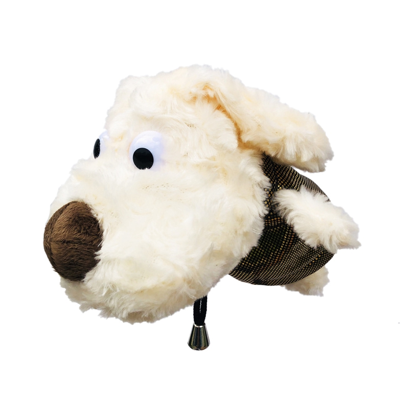 2 Pcs/set Plush Dog Golf Head Cover For Driver Fairway Woods Clubs Outdoor Sport Plush Golf Clubs Headcovers