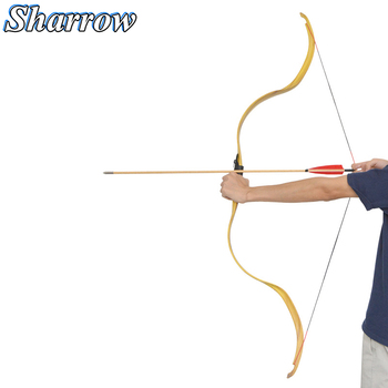 25lbs Archery Arc Moon Short Bow Traditional Bow Handmade Recurve Bow Outdoor Hunting Shooting Practice Slingshot Hunting