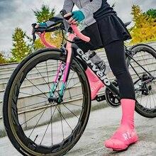 Mężczyźni/kobiety blokada do roweru szosowego pokrowiec na buty lekki wodoodporny i wiatroodporny wysoki pokrowiec na buty s na kolarstwo szosowe na zimno deszczowy lub śnieżny