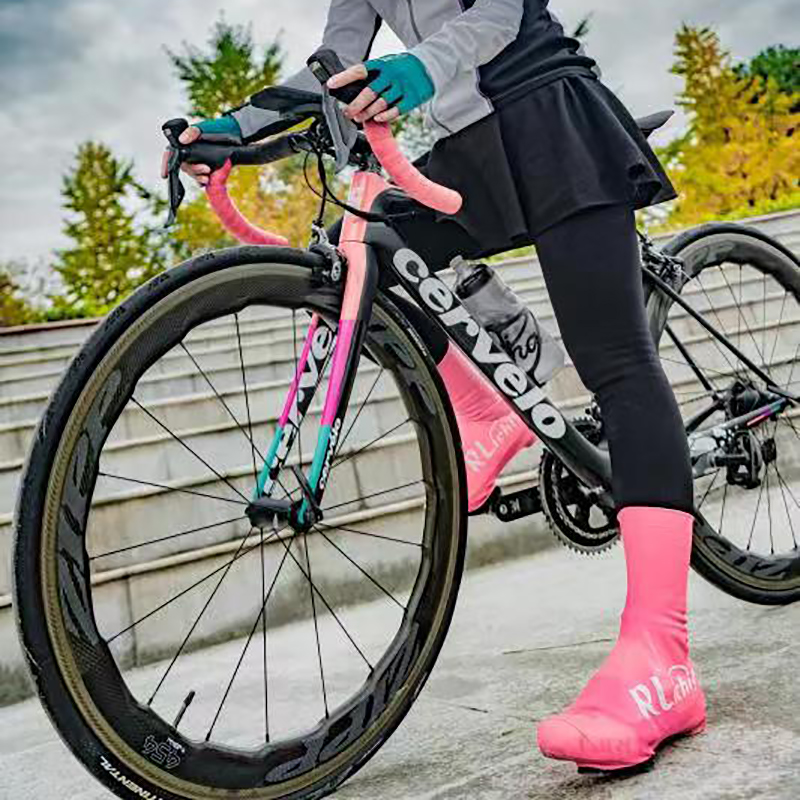 Men/Women Road Bike Lock Shoe Cover Lightweight Water And Wind Proof Tall Shoe Covers For Road Cycling On Cold Rainy Or Snowy