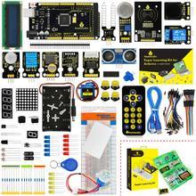 עדכון גרסה Keyestudio סופר Starter Kit עם Mega2560R3 לוח (USB סידורי שבב הוא CP2102) עבור Arduino Starter Kit + הדרכה