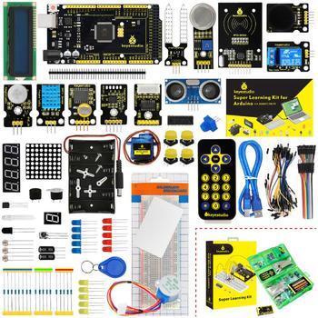 Updated Version Keyestudio Super Starter Kit With Mega2560R3 Board(USB serial Chip is CP2102)For Arduino Starter Kit +Tutorial gus is hot starter b